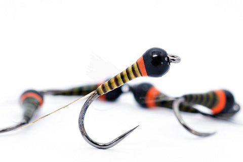 The Riffle Fly Company Flies Hot Spot Olive Quill Barbless Frenchie