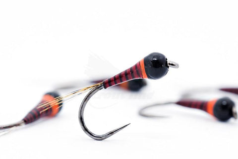 The Riffle Fly Company Flies Hot Spot Red Quill Barbless Frenchie