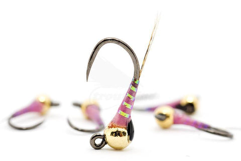 The Riffle Fly Company Flies Racing Pink UV Jig Perdigon