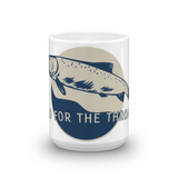 The Riffle Fly Company Mug Go For The Throat - Cutthroat Mug made in the USA