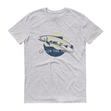 The Riffle Fly Company T-Shirt Heather Grey / S Go For The Throat - Cutthroat T-Shirt