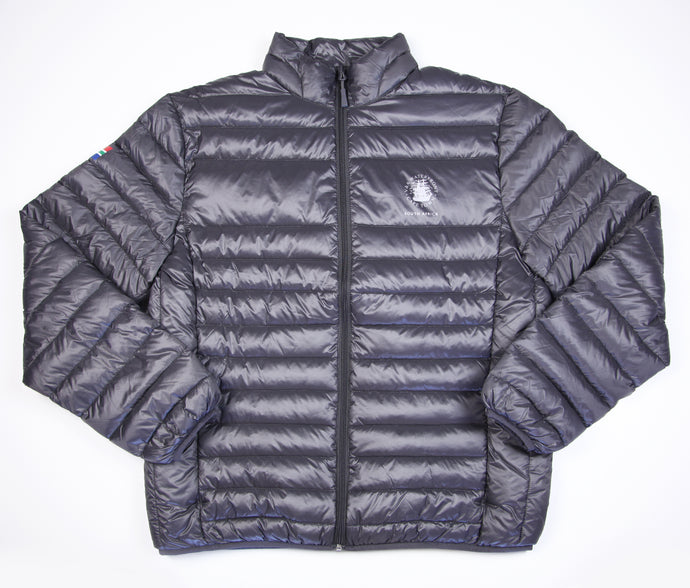 Ladies Goose Down Puffer Jacket Charcoal