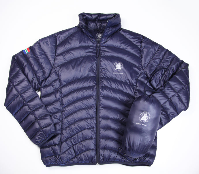 Mens Goose Down Puffer Jacket Navy