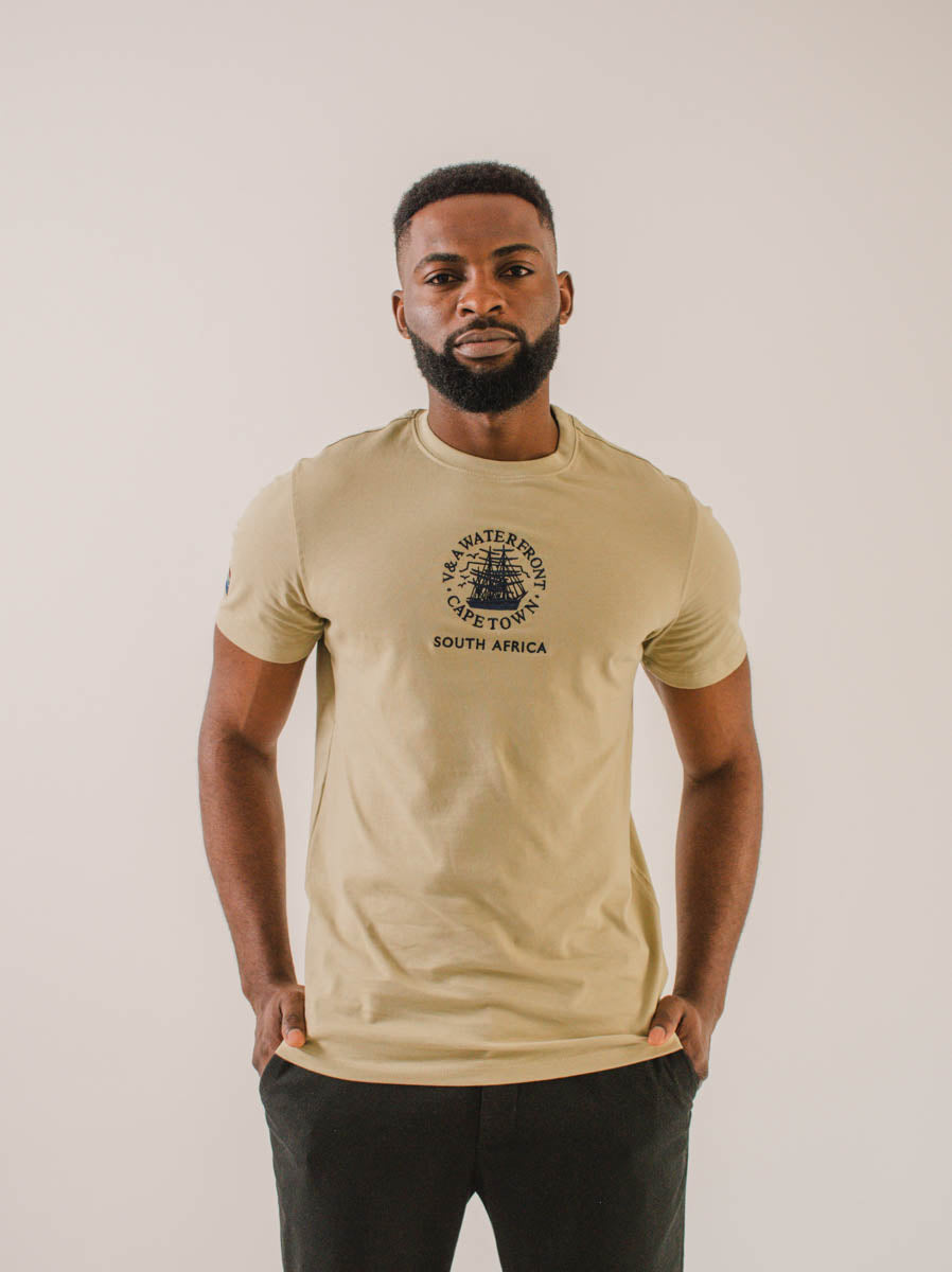 Unisex Short Sleeve T-shirt Khaki