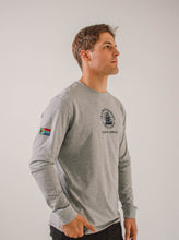 Unisex Long Sleeve Crew Grey Melange