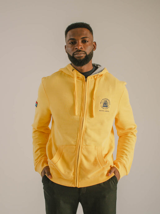 Unisex Hoodie with Zip Yellow