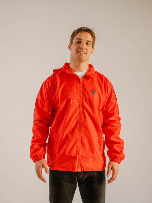Unisex Lightweight Windbreaker Red