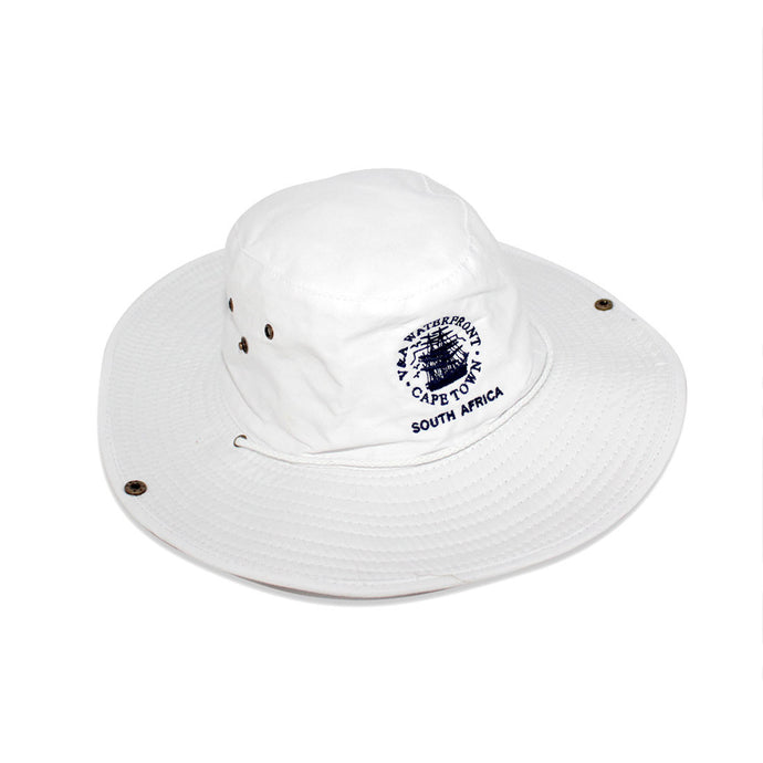 V&A Logo Cricket Cap White