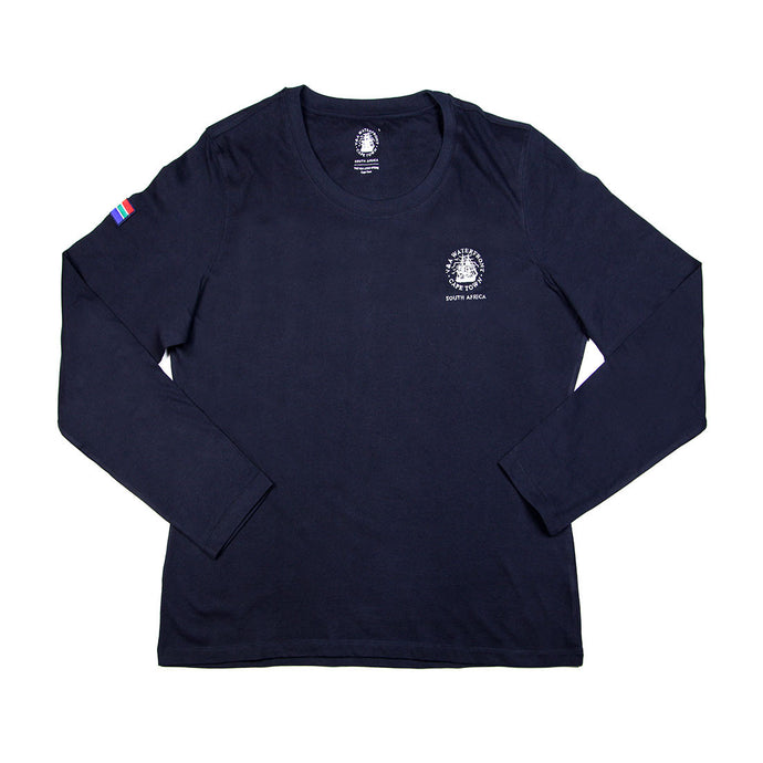 Ladies Long Sleeve Crew Navy