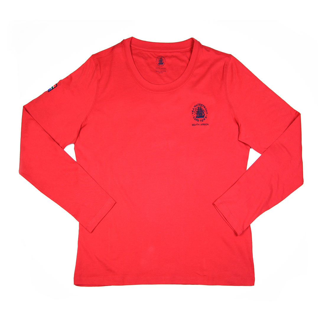 Ladies Long Sleeve Crew Red