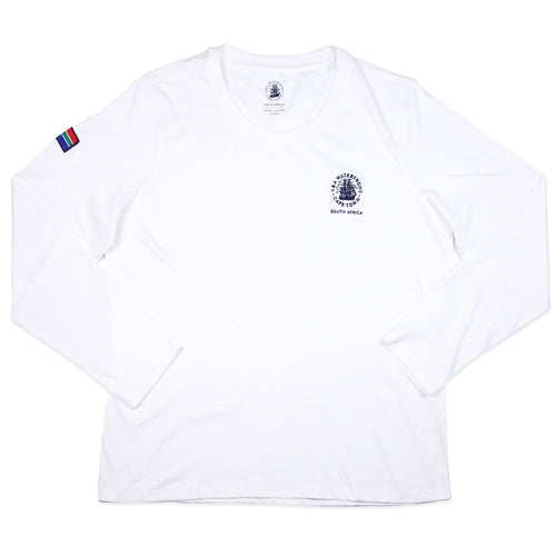 Ladies Long Sleeve Crew White