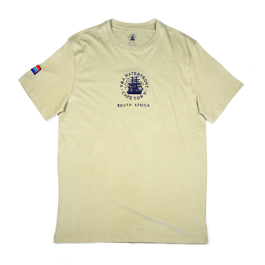 Mens Short Sleeve T-shirt Khaki