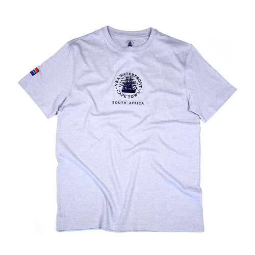 Mens Short Sleeve T-shirt Grey Melange