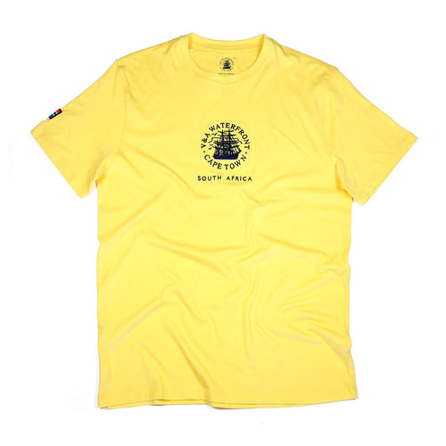 Mens Short Sleeve T-shirt Yellow