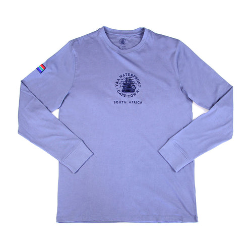 Mens Long Sleeve Crew Airforce Blue