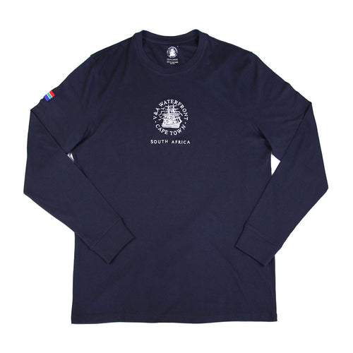 Mens Long Sleeve Crew Navy