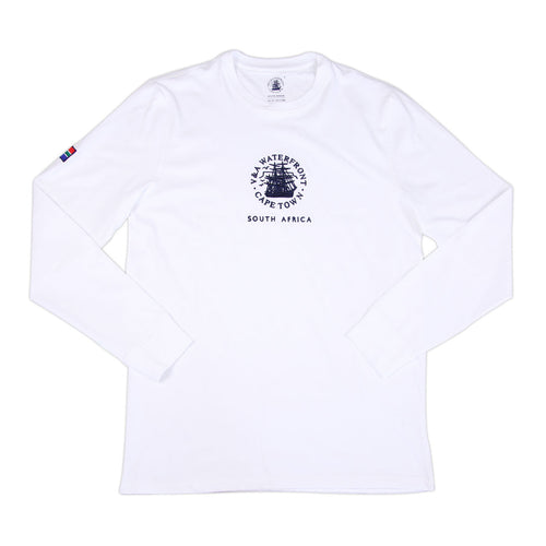 Mens Long Sleeve Crew White