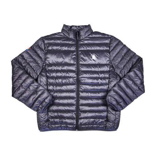 Mens Goose Down Puffer Jacket Charcoal
