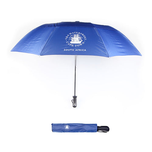 V&A Logo Travel Umbrella Navy