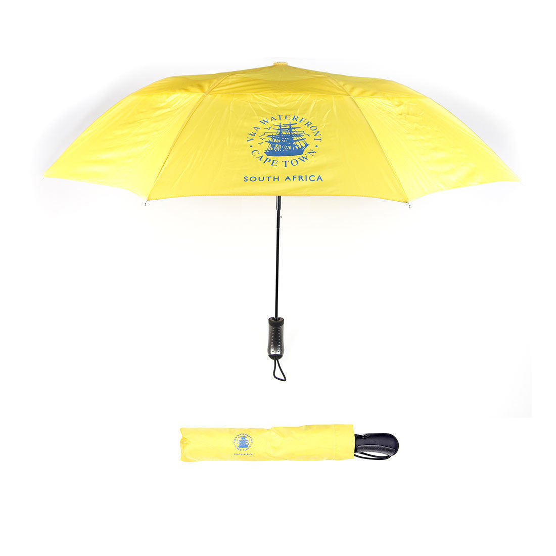 V&A Logo Travel Umbrella Yellow