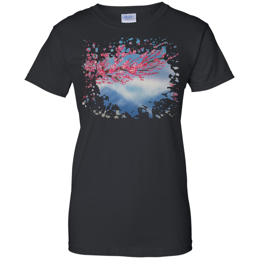 Camping - Cherry Blossom mountain T Shirt & Hoodie
