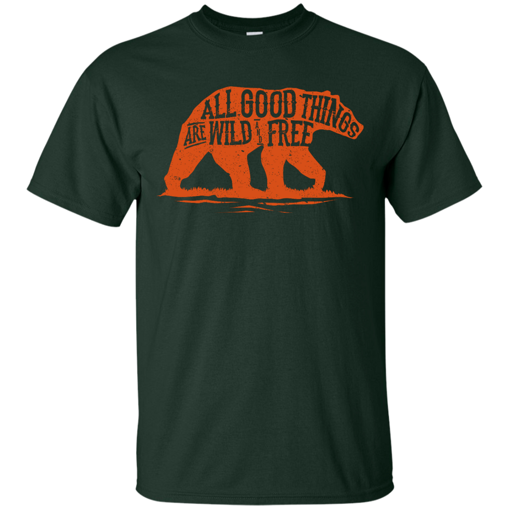 Camping - Wild and Free outdoor T Shirt & Hoodie