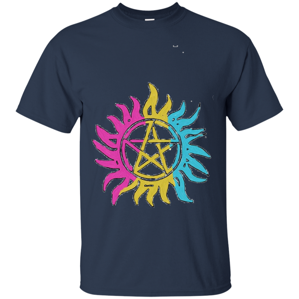 LGBT - Pansexual Pride Flag AntiPossession Symbol spnfamily T Shirt & Hoodie