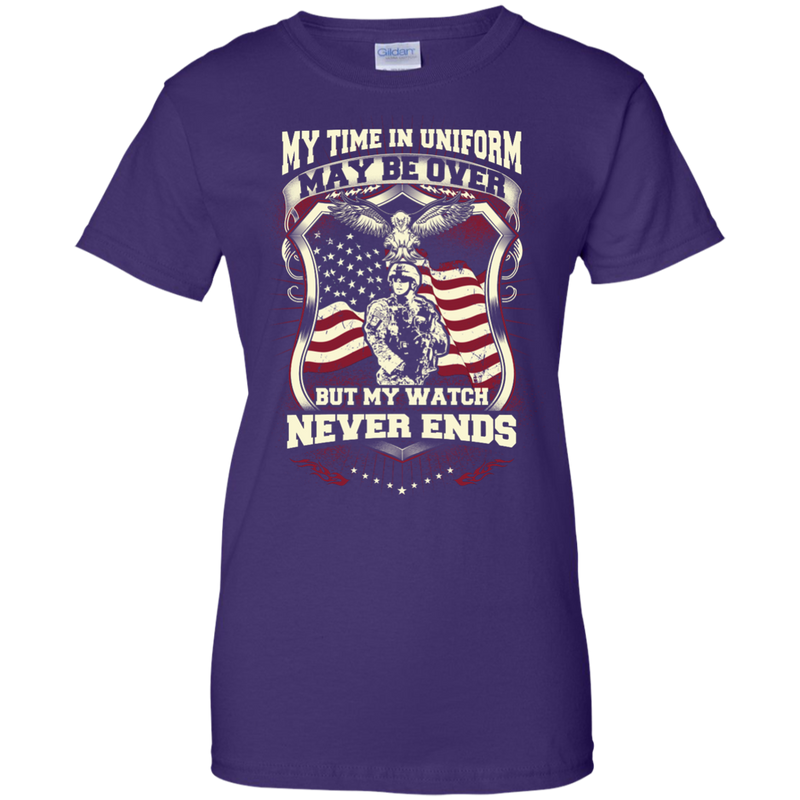 34515284296 ... Mechanic - MY TIME IN UNIFORM MAY BE OVER BUT MY WATCH NEVER ENDS T  Shirt ...