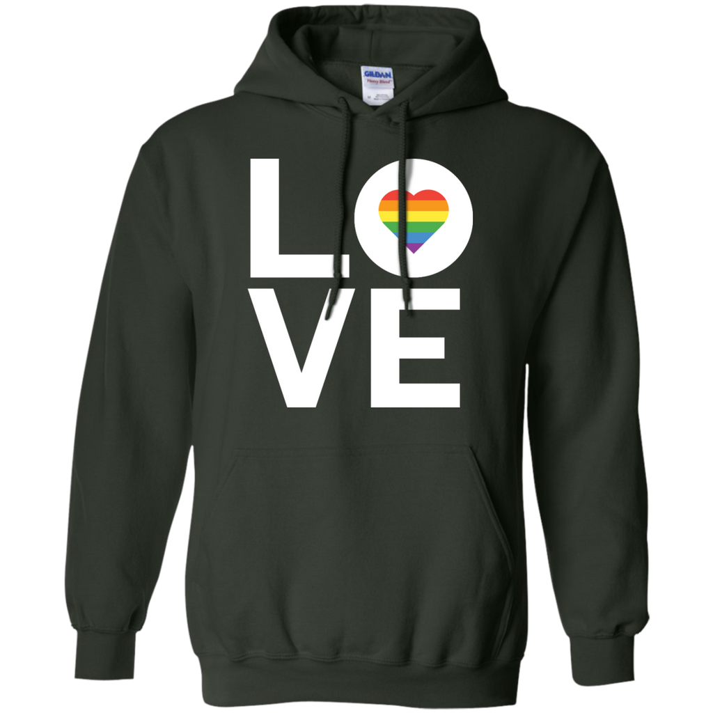 LGBT - Love TShirt Gay Lesbian Inspired Rainbow Heart LGBT Pride love T Shirt & Hoodie