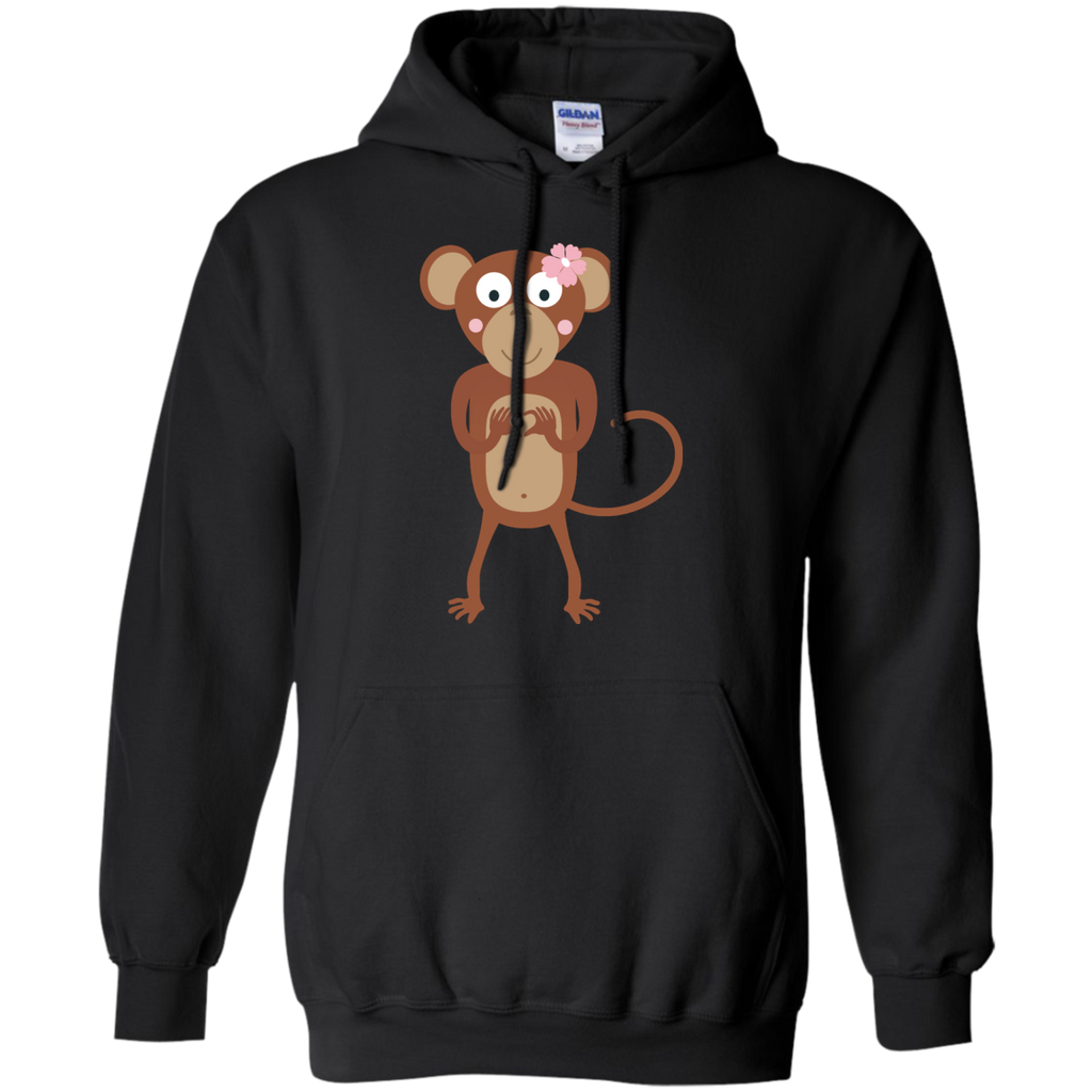 LGBT - amorous female monkey with flower female T Shirt & Hoodie