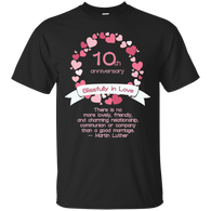 10TH ANNIVERSARY - 10th Wedding Anniversary T Shirt & Hoodie