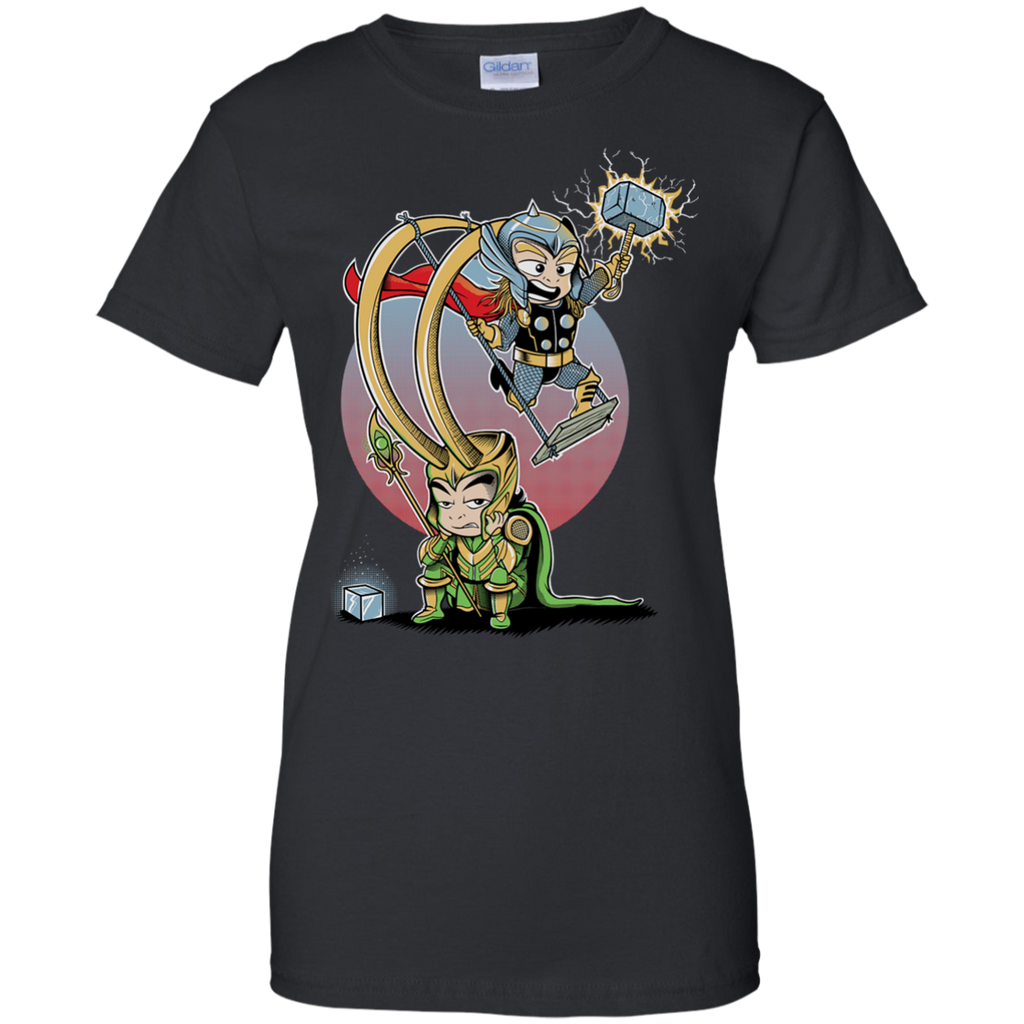 Marvel - BROTHERS GAME fernando sala soler movie avengers cute mashup movies parody funny pop culture geek comics marvel asgard loki thor T Shirt & Hoodie
