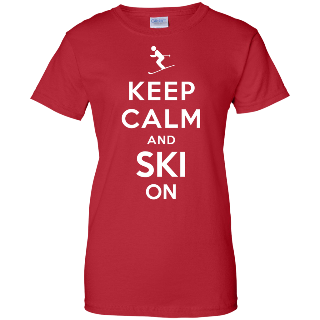 Camping - Keep Calm and Ski On mountain T Shirt & Hoodie