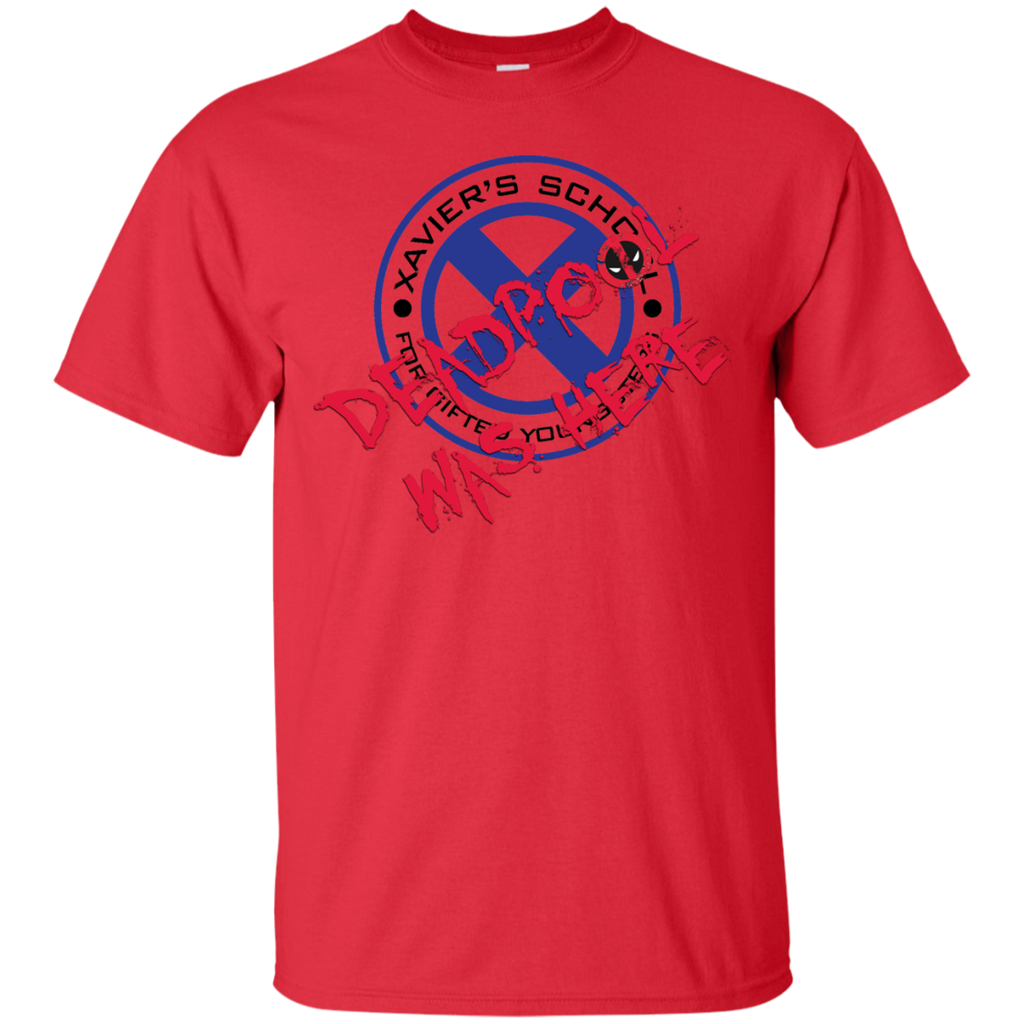 Marvel - Deadpool was here Xaviers School Blue Black marvel comics T Shirt & Hoodie