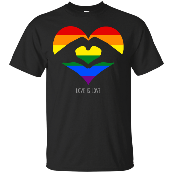 LGBT - Love Is Love LGBT Love Heart colors T Shirt & Hoodie