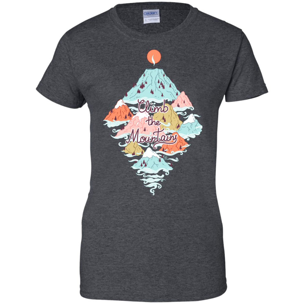Hiking - Misty Mountains mountains T Shirt & Hoodie