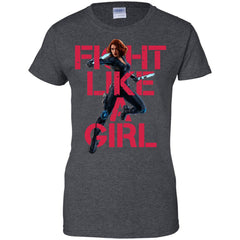 MARVEL SUPERHEROES - Black Widow  Fight Like A Girl T Shirt & Hoodie