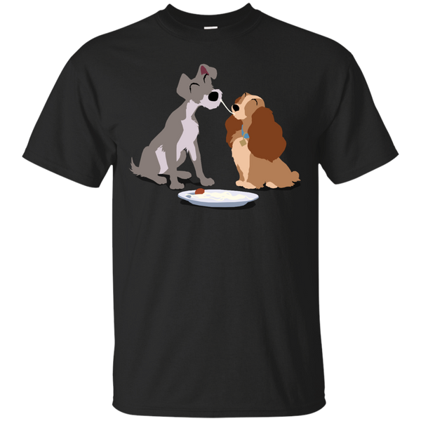 Disney Lady And The Tramp Minimalist T Shirt Hoodie
