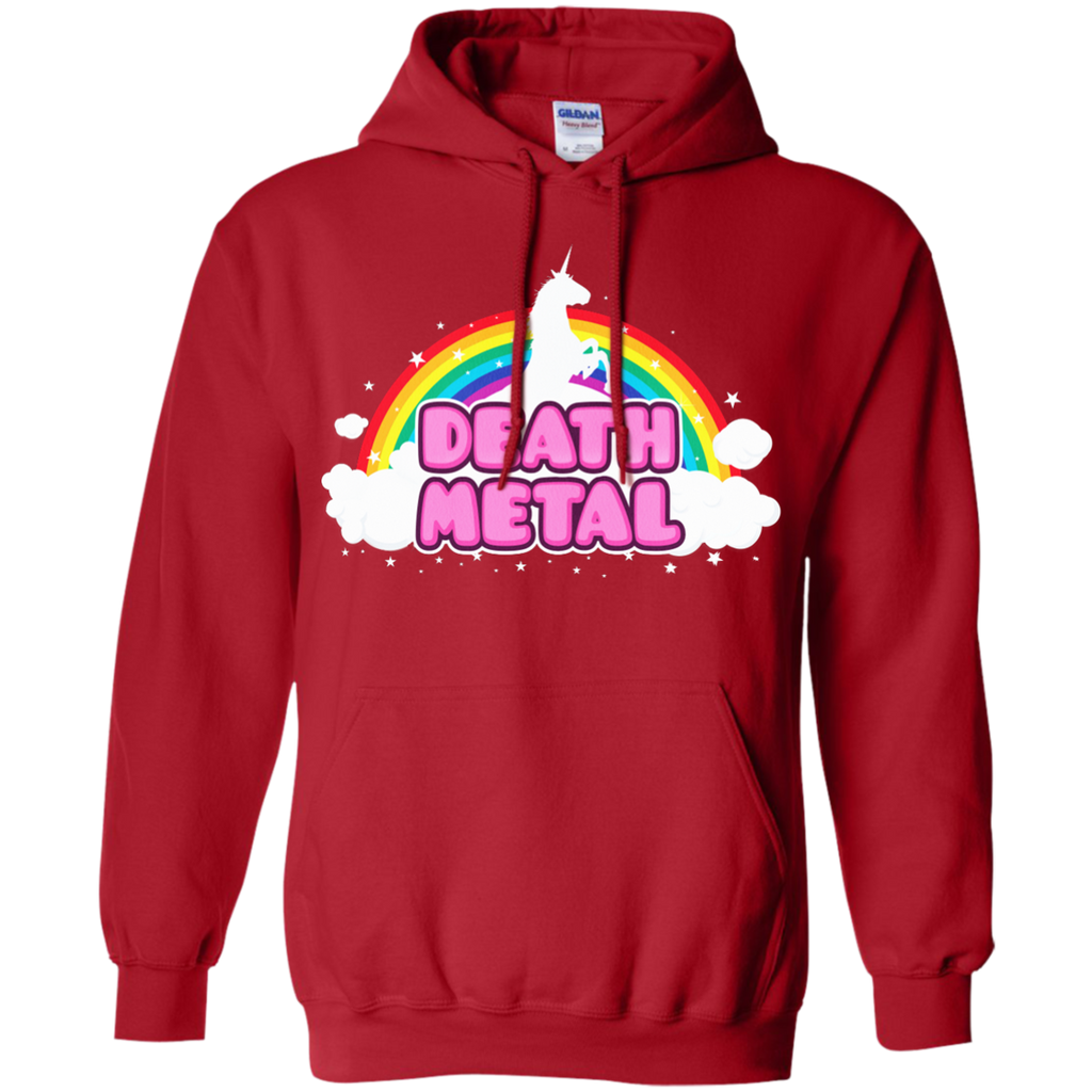 LGBT - DEATH METAL Funny Unicorn  Rainbow Mosh Parody Design music T Shirt & Hoodie