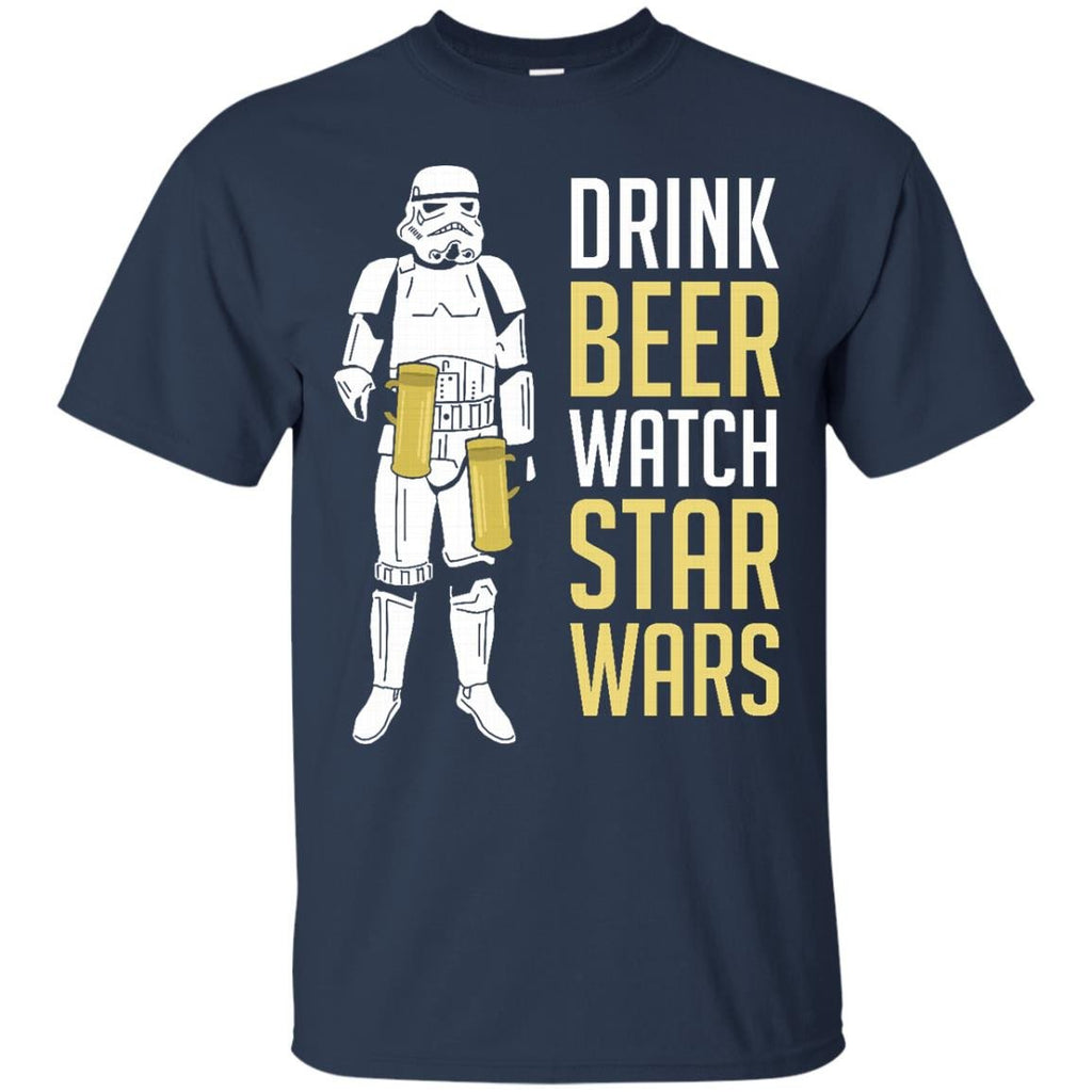 STAR WARS - Drink Beer Watch Star Wars  Stormtrooper T Shirt & Hoodie