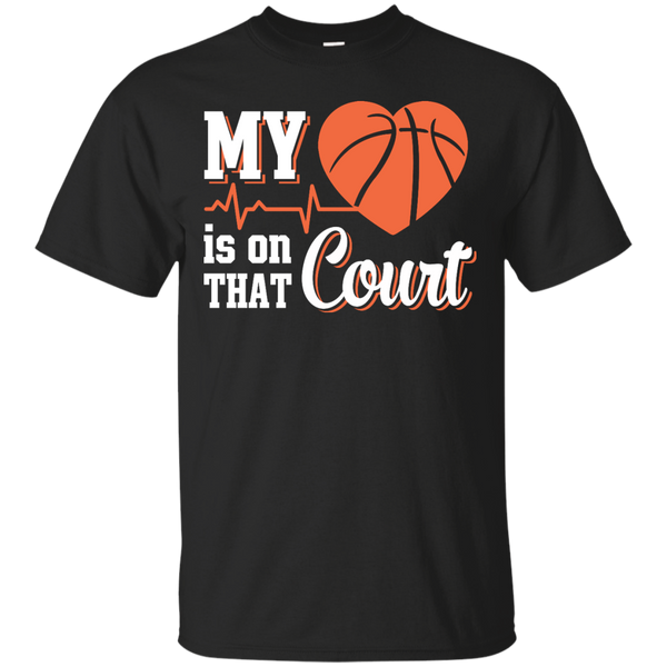 Yoga - MY HEART IS ON THAT COURT BASKETBALL T shirt & Hoodie