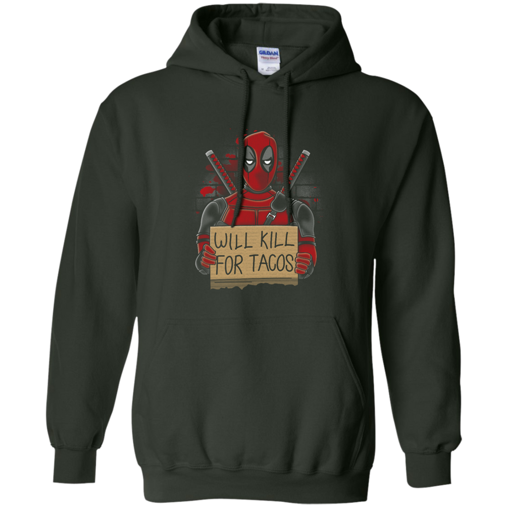 DEADPOOL - Will Kill for Tacos T Shirt & Hoodie