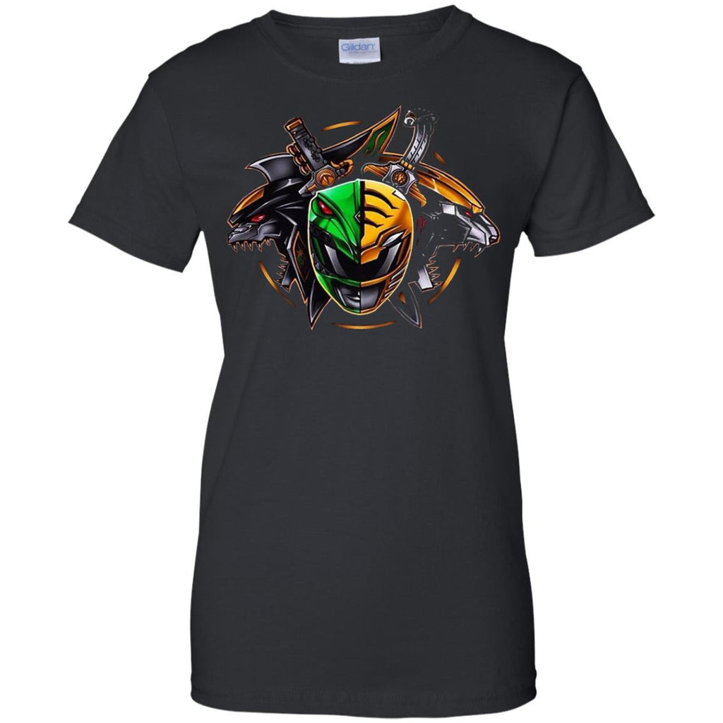 POWER RANGERS - Green  White Ranger T Shirt & Hoodie