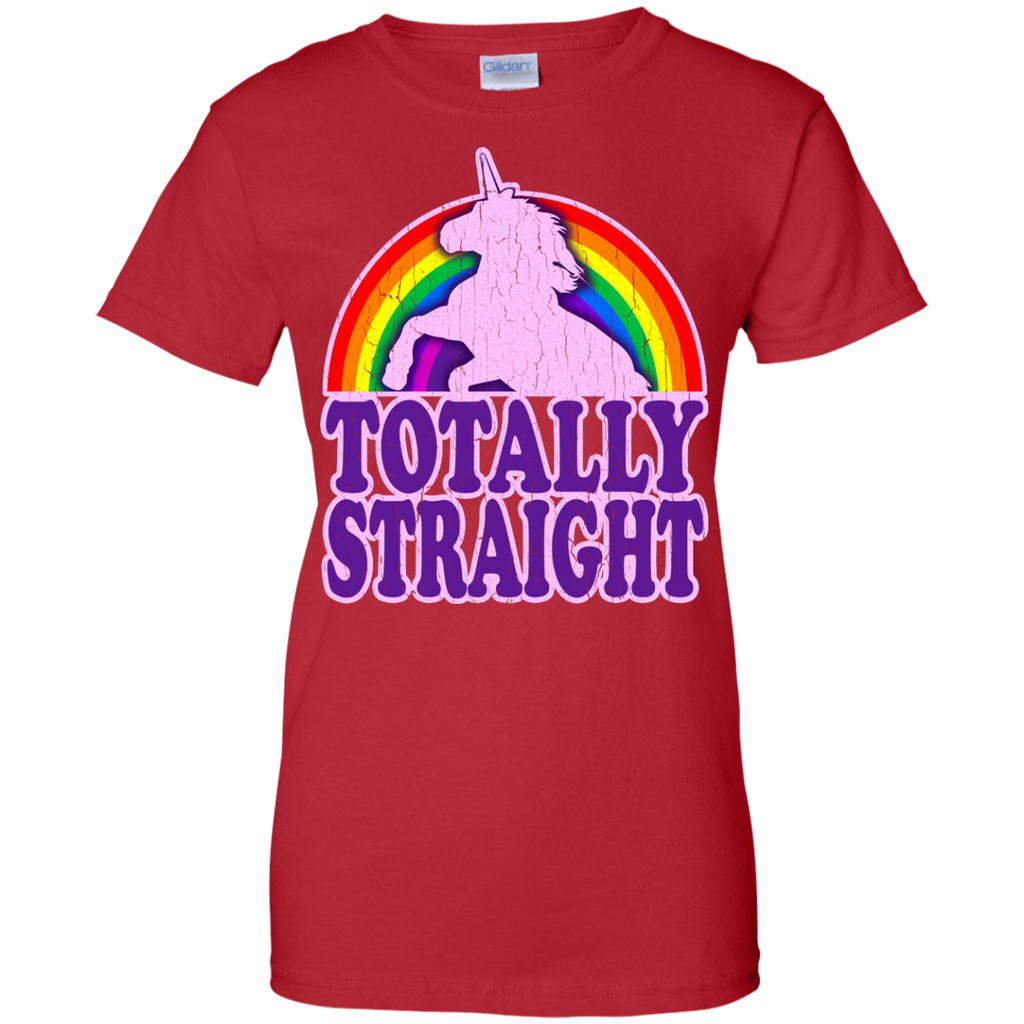 LGBT - Funny  Totally Straight vintage distressed look funny retro T Shirt & Hoodie