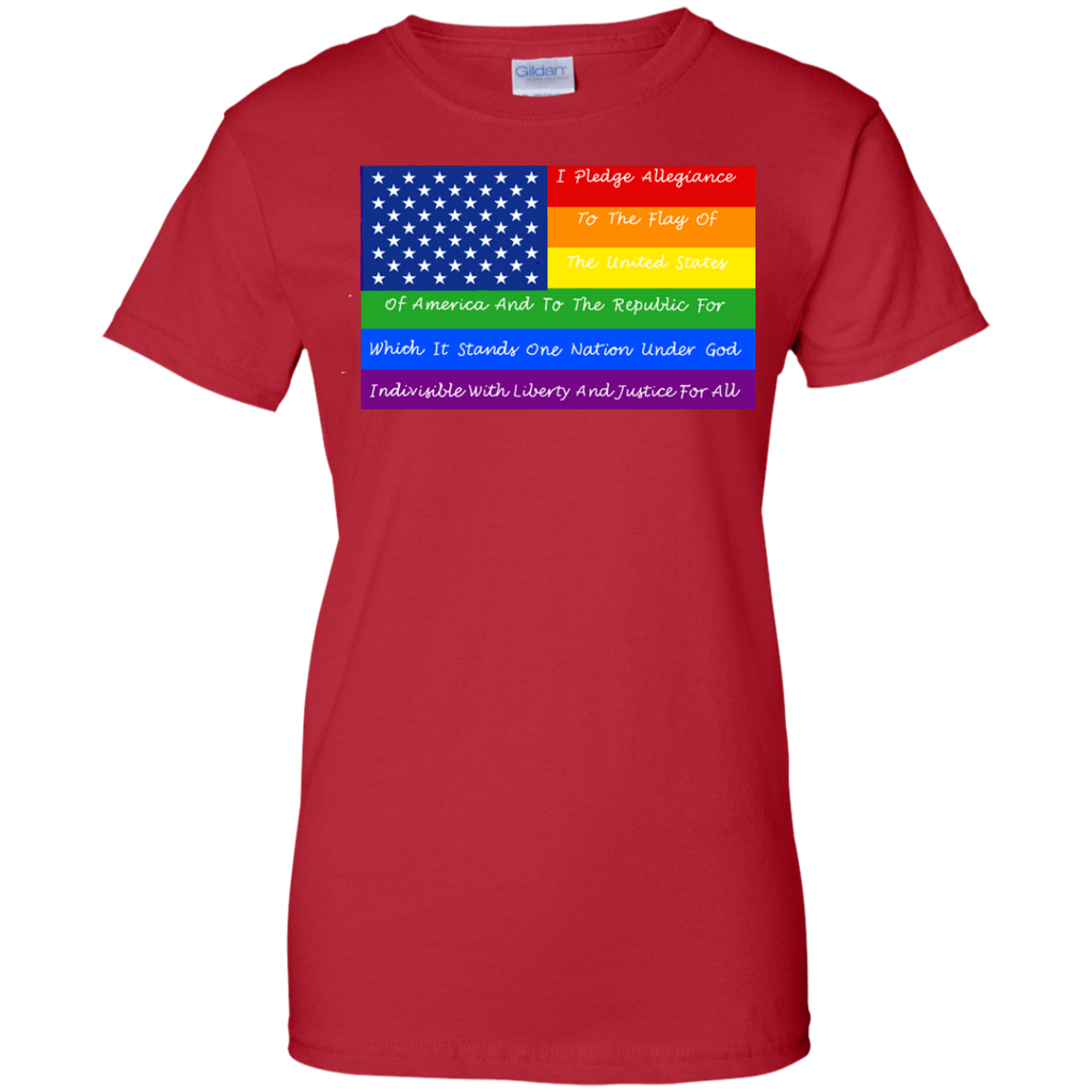 LGBT - Pledge of allegiance flag american flag gay flag T Shirt & Hoodie