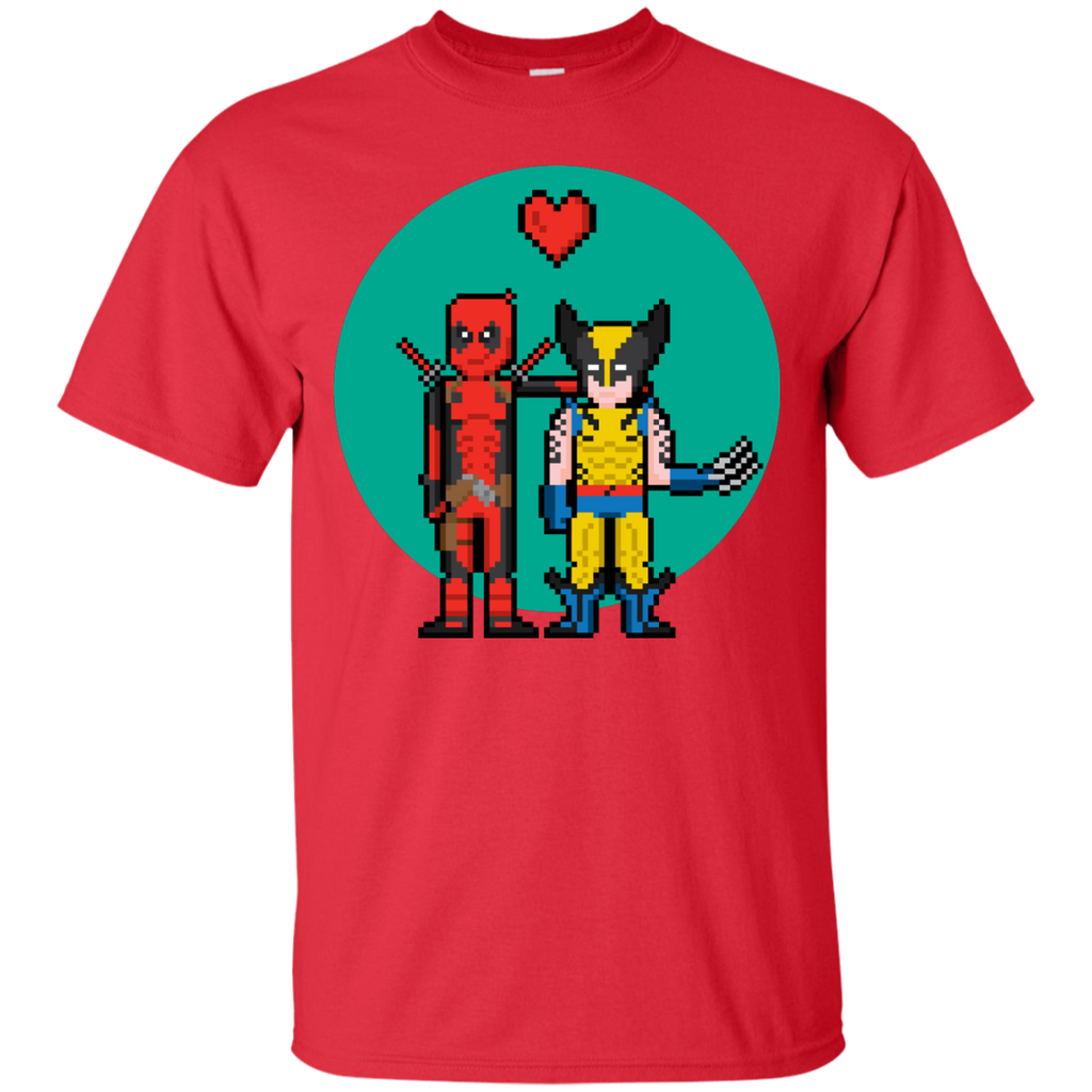 Marvel - Deadpool Heart Wolverine guardians T Shirt & Hoodie