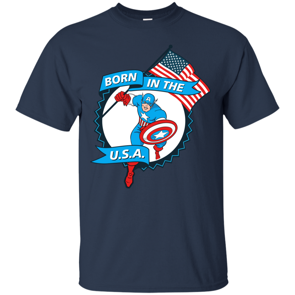 Marvel - Captain America  Born in The USA comic book T Shirt & Hoodie