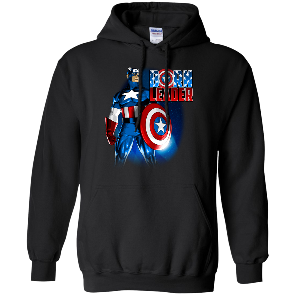 Marvel - Captain America  Born Leader made in usa T Shirt & Hoodie
