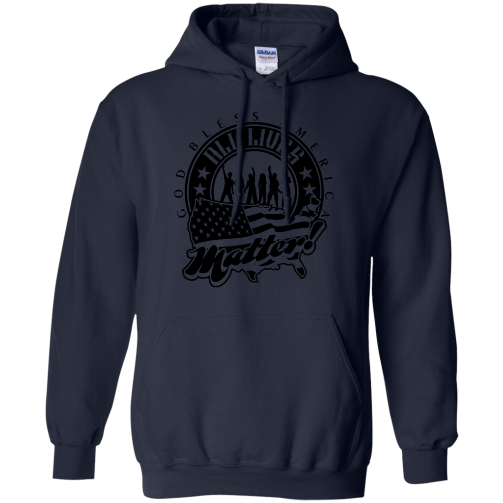 Camping - ALL LIVES MATTER armed forces T Shirt & Hoodie