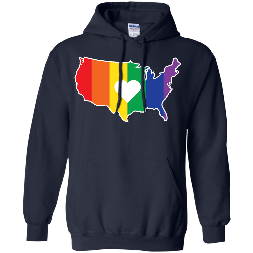 LGBT - Gay USA Rainbow United States Outline rainbows T Shirt & Hoodie